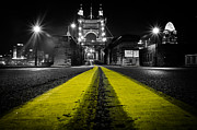 Bw Prints - Night Bridge Print by Keith Allen
