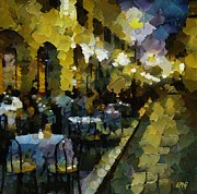 Night Cafe Posters - Night cafe Poster by Dragica  Micki Fortuna