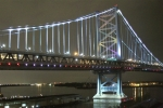 Ben Franklin Bridge Prints - Night Crossing Print by Rick  Monyahan