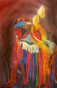 Native American Watercolor Paintings - Night Dancer by Robert Hooper