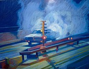 Automotive Pastels - Night Drag by Martin Deem