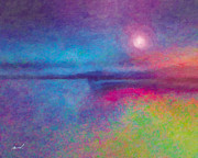 Mystical Landscape Mixed Media Posters - Night Dream Poster by Marsha Charlebois