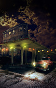 Haunted House Digital Art Metal Prints - Night fill Metal Print by Nathan Wright
