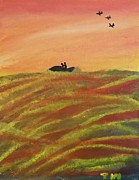 Jet Ski Paintings - Night Flight by Tracey Williams