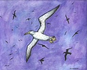 Albatross Paintings - Night Flight by William Biery III