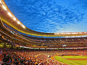 Baseball Park Prints - Night Game at Target Field Print by Heidi Hermes