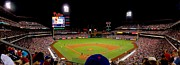 Philadelphia Phillies Stadium Photo Prints - Night Game at the Phillies Print by Nick Zelinsky