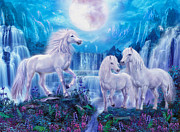 Unicorns Prints - Night Horses Print by Jan Patrik Krasny