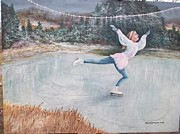 Skater Originals - Night Ice Skater by Robert Harrington