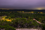 Hill Country Posters - Night In A Texas Hill Country Valley Poster by Darryl Dalton