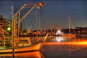 Shrimp Boat Originals - Night in the Harbor by Michael Thomas