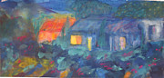 International Painting Originals - Night in the village by Tolere