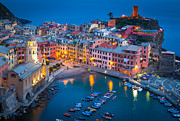 Night In Vernazza Print by Inge Johnsson