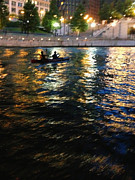 Boaters Photo Prints - Night Kayak RIde Print by Margie Hurwich