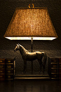 Bedside Table Framed Prints - Night lamp Framed Print by Radoslav Nedelchev