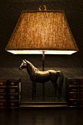 Night Lamp Print by Radoslav Nedelchev