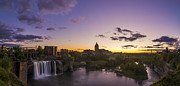 Rochester Skyline Prints - Night Light Print by Mark Papke