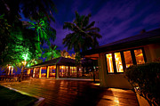 Release Acrylic Prints - Night Lights at the Resort Acrylic Print by Jenny Rainbow
