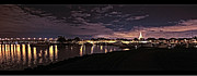 Mission Metal Prints - Night Lights Mission Bay Metal Print by Gilbert Artiaga