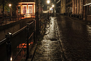 Night Scene Prints - Night Lights of Utrecht. Netherlands Print by Jenny Rainbow