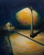Night Lamp Paintings - Night Lights by Sean Panich