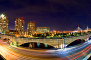 Boston Skyline Art - Night Moves 2-Boston by Joann Vitali