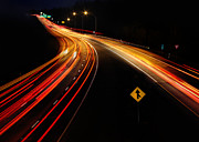 Highway Digital Art Prints - Night Moves Print by Lori Deiter