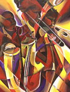 Red Band Painting Originals - Night of Salsa 7  by Mandell Maull