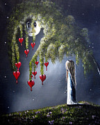 Night Of The Bleeding Hearts By Shawna Erback Print by Shawna Erback