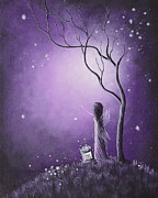 Purple Sky Posters - Night Of The Fairies by Shawna Erback Poster by Shawna Erback