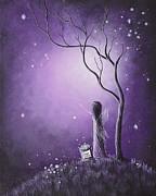 Night Of The Fairies By Shawna Erback Print by Shawna Erback