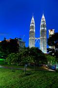 Fototrav Print - Night on Kuala Lumpur KLCC Petronas Towers