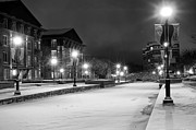 Snowy Night Photos - Night on the Creek by Andrew Murdock