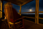 Tx Prints - Night On The Porch Print by Darryl Dalton