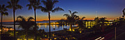 Skates Prints - Night over Newport Beach Panorama Print by Harold Vaagan