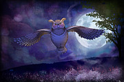 Fairytale Prints - Night Owl Print by Bedros Awak