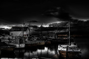 Harbor Photos - Night Parking by Erik Brede