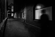 Urban Buildings Prints - Night People Print by Bob Orsillo
