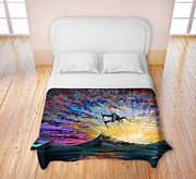 TeshiaArt - Night Ride - Duvet Cover