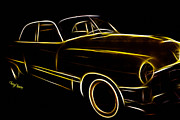 Car-club Posters - Night Rider Poster by Cheryl Young