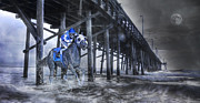 Galloping Prints - Night Run II Print by East Coast Barrier Islands Betsy A Cutler