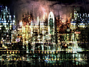 Gotham City Digital Art - Night-Scape II by Stefano Popovski