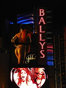 Bally Posters - Night Shot Of Ballys Casino Poster by Jose Santos