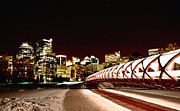 Calgary Prints - Night Shots Calgary Alberta Canada Print by Mark Duffy