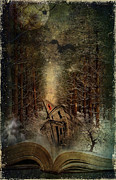 Fantasy Tree Art Mixed Media Prints - Night Story Print by Svetlana Sewell