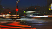 Urban Scenes Prints - Night Streaks Print by Joann Vitali