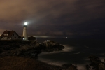 Portland Lighthouse Prints - Night Time At Portland Head  Print by Rick  Blood