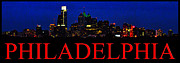 Phila Posters - Night Time In Philadelphia Cityscape Poster by Bill Cannon