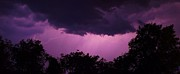 Lightning Prints - Night Time Lightning Print by Frank Piercy