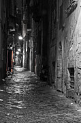 Alleyway Prints - Night-time Print by Marion Galt